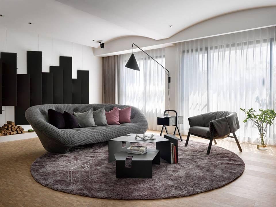 Living Room Furnished With Ploum Sofa Live Beautifully!  Www.lignerosetsf.com #Design · Ligne RosetPersonal ...