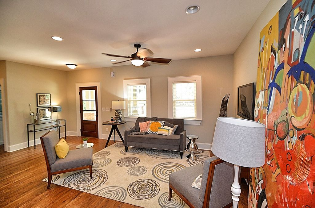 Contemporary Living Room with Ceiling fan, Butler BTL4987 Loft