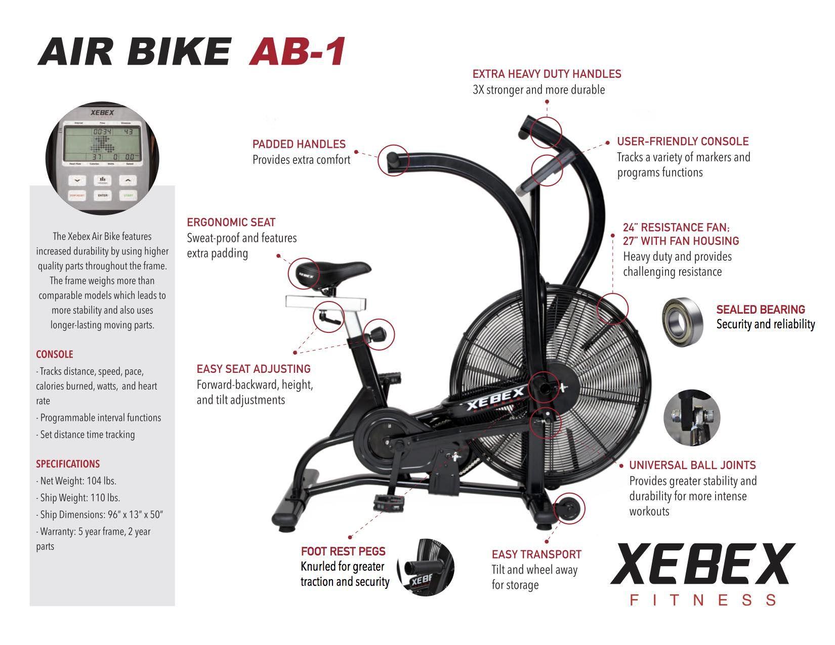 Xebex Air Bike Bicicleta Cardio Crossfit Monterrey Mexico Ab 1