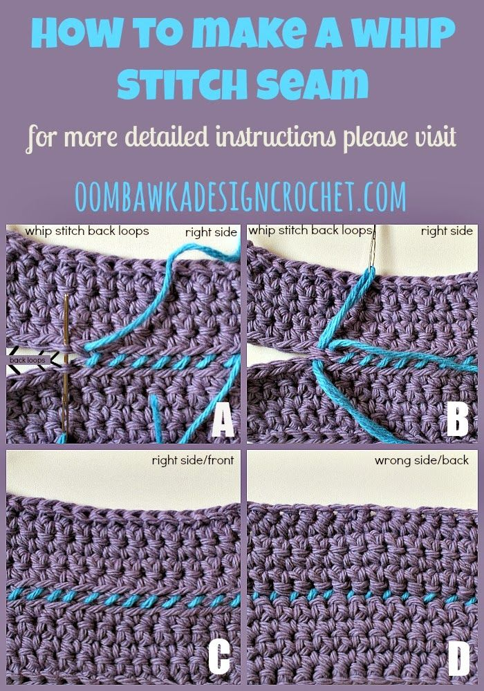 How To Join Crochet With A Whip Stitch Seam Crochet Pinterest