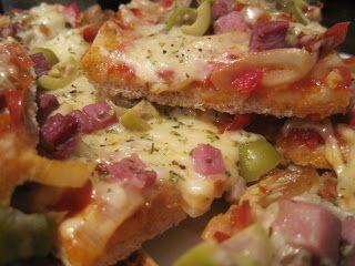 EL RINCON DE LA NUTRICION Y LA SALUD: Pizza integral con verduras y jamón serrano