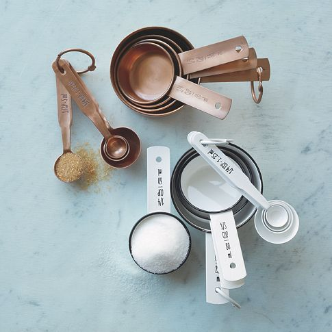 Copper measuring cups and spoons to match the copper cookware that I want so bad?