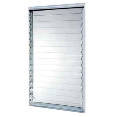 Tafco Windows 35 In X 58 375 In Jalousie Utility Awning Aluminum Window In White Aluminum Screen Aluminium Windows Window Styles