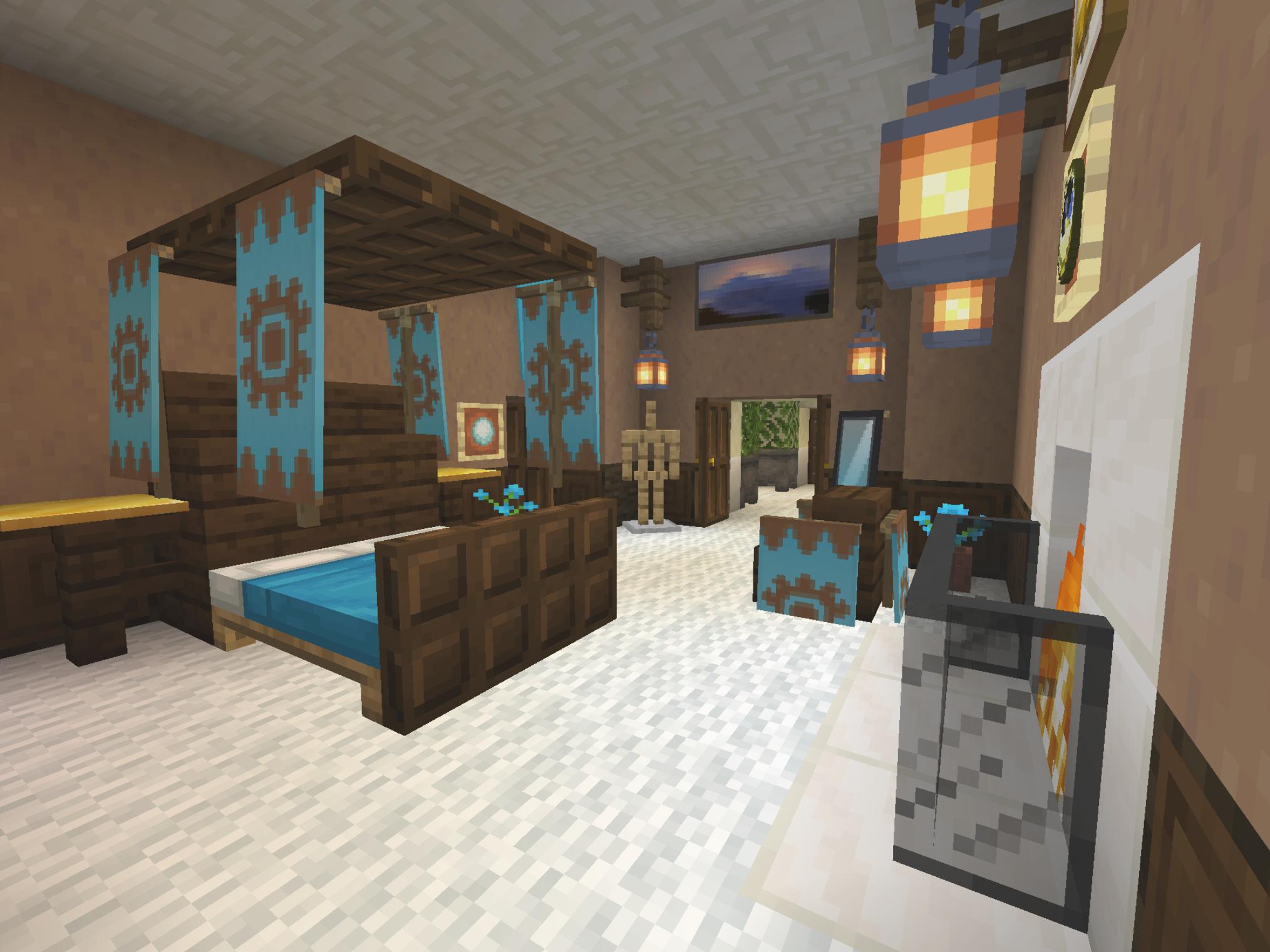 Minecraft House Ideas You Can Use To Build Effortlessly Minecraft Bedroom Decor Minecraft Room Decor Minecraft Interior Design