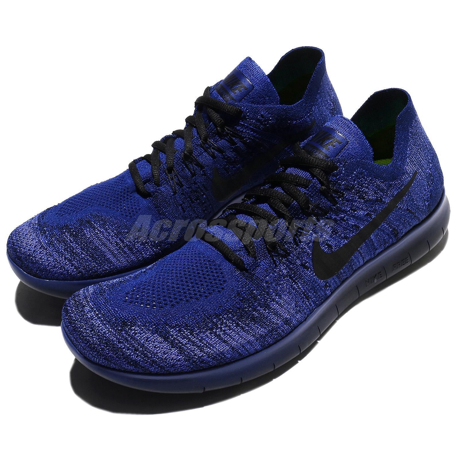c4330f319a5 ... run wolf grey blue men running shoes trainers 880839 006 b113f official nike  free rn flyknit 2017 deep royal blue men running shoes trainers 880843 406  ...