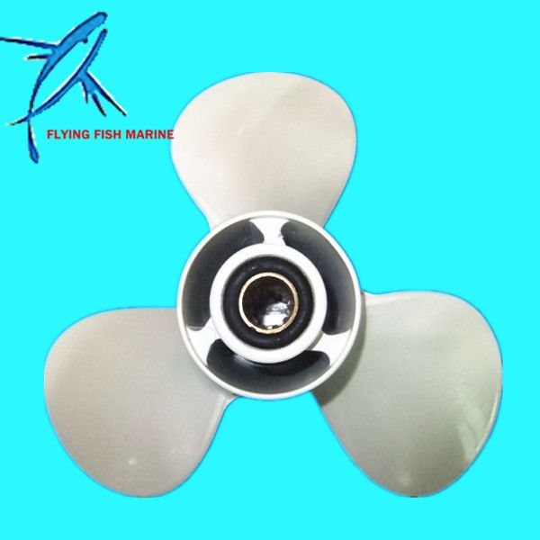 Outboard Aluminum Alloy Propeller 9 7//8x12-F for Yamaha 20hp 25hp 30hp 664-45954
