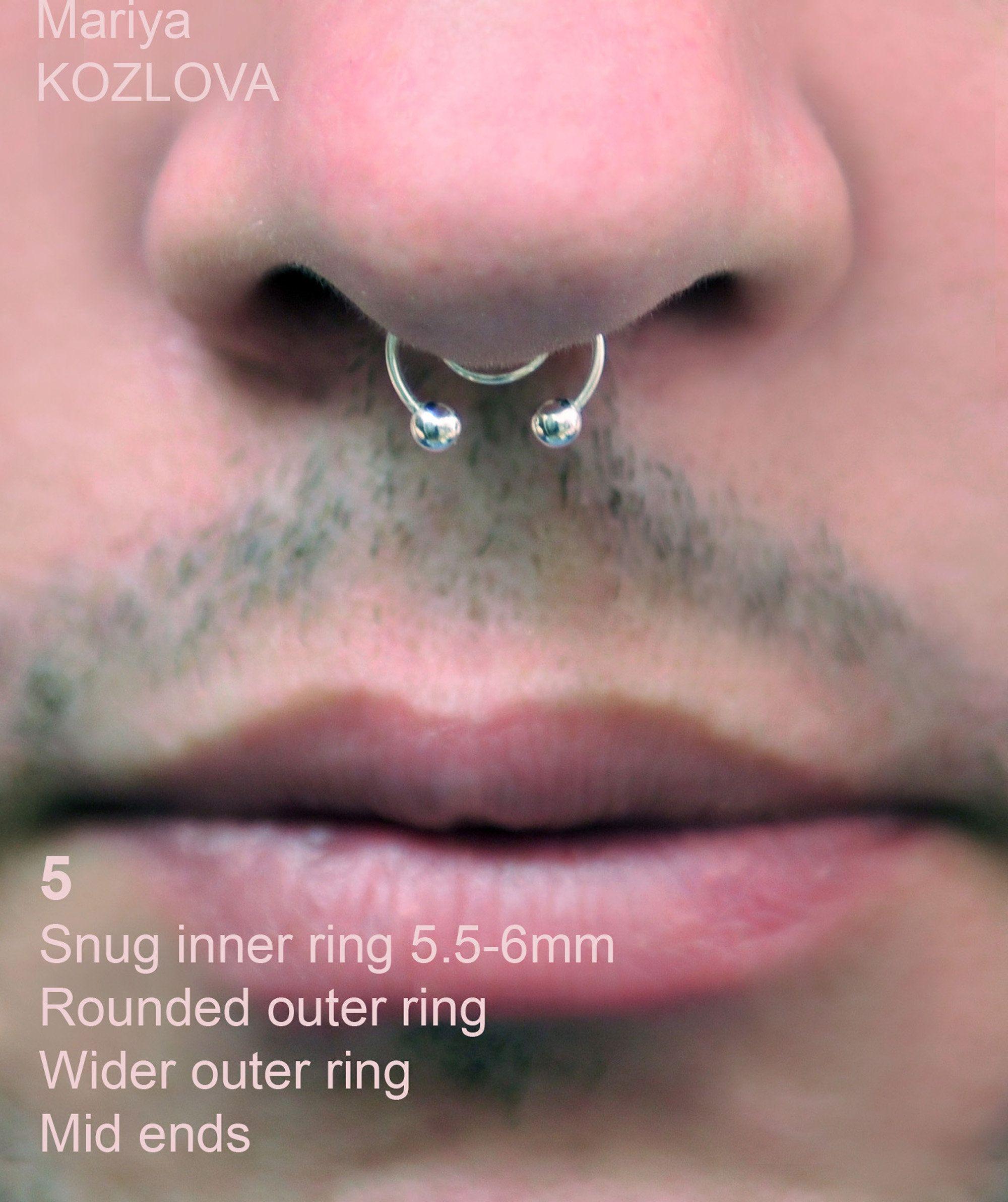 Mid No Piercing Ball Barbell Septum Nose Piercing Imitation