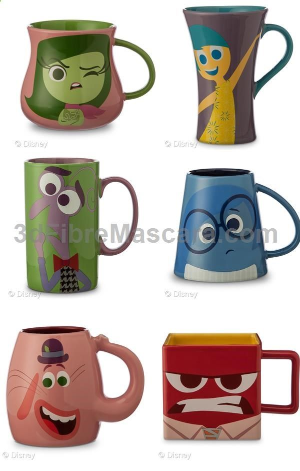 Inside Out Coffee Character Mugs 6 Must Have