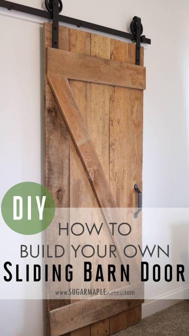 DIY Sliding Barn Door   How To Build Your Own Single Sliding Barn Door.