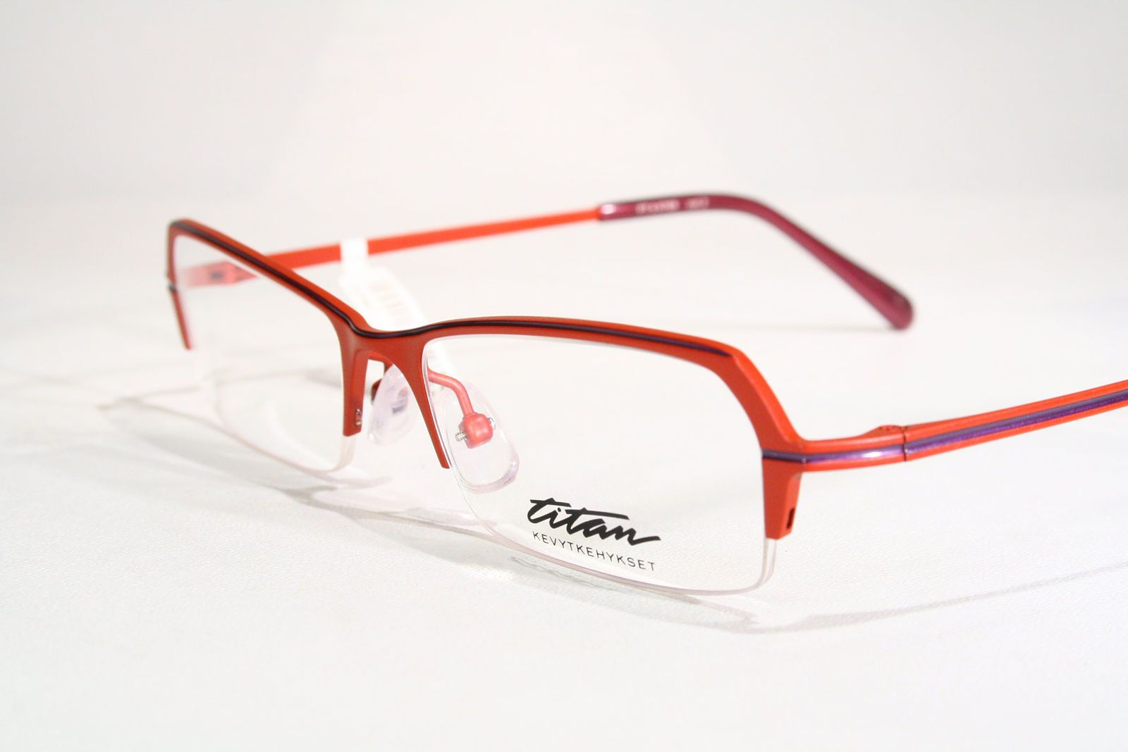 ad9cc2c871c4 Finnish Design Half Rimless Titanium Red Violet Optical Eyeglass Frames  Glasses   eBay (RipVanW)