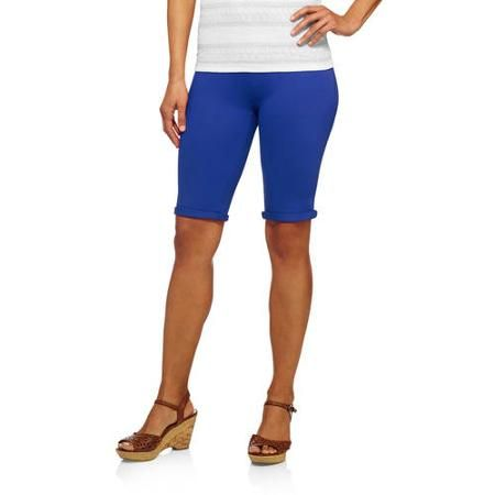 97659210caf2d Faded Glory Women's Bermuda Knit Color Jegging-Your Favorite Jegging Now in  Shorts Length - Walmart.com
