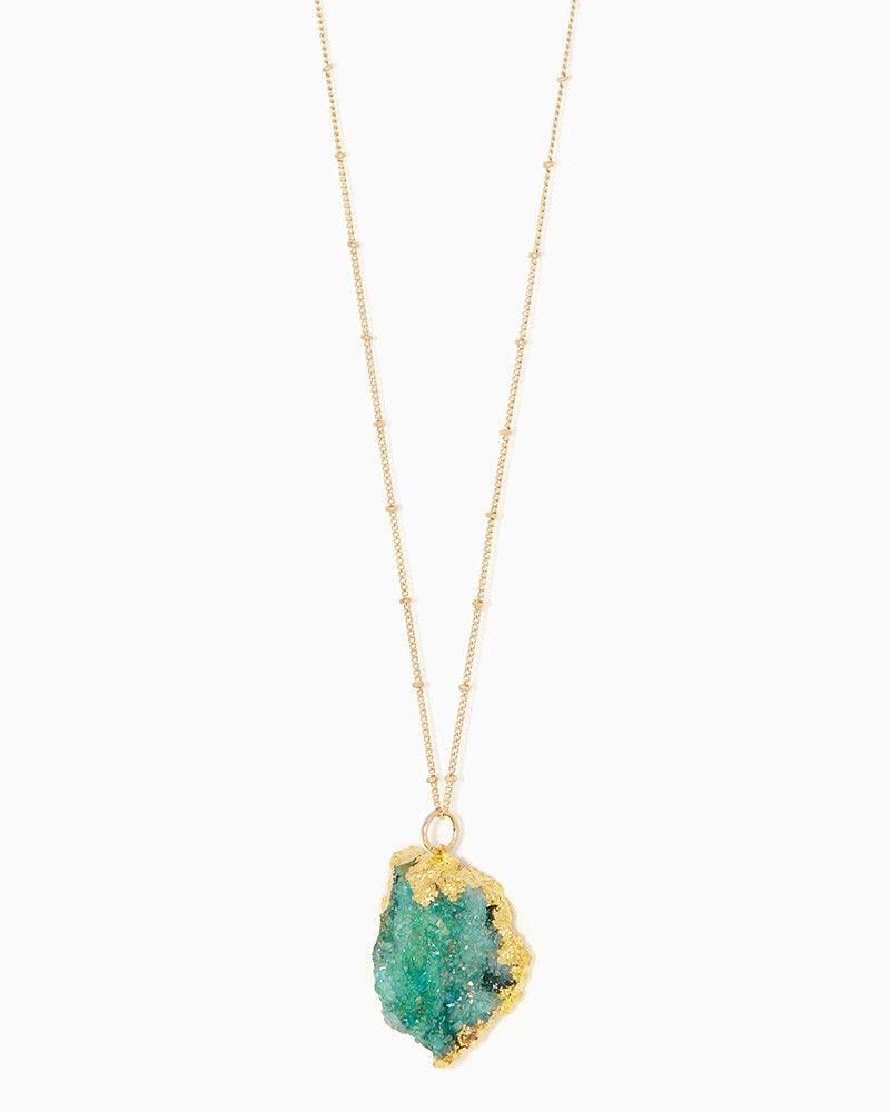 charming charlie | Azure Organic Druzy Pendant Necklace | UPC: 400000062945 #charmingcharlie