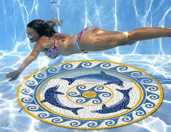 Pool Art AquaArt Pool Graphic Art Mosaics pool mosaic mats