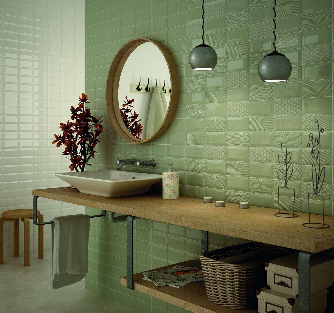 Wandfliese Equipe Metro Olive Glanzend 7 5x15 Cm Wandfliesen Kuche Runde Badezimmerspiegel Badezimmer Dekor