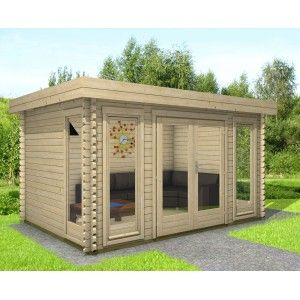Gartenhaus Flachdach 40 mm NWH Melle 40205 (mit Bildern