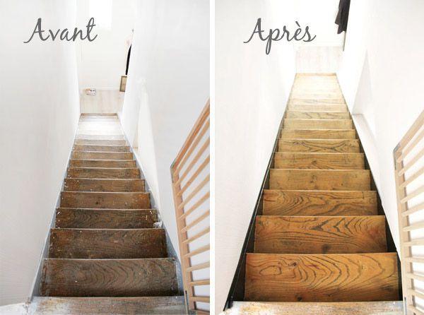 L Escalier Avant Apres Tete D Ange Renovation Escalier Bois Escaliers Maison Escalier