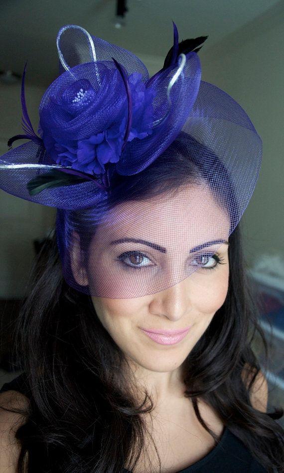 White Fascinator - Mesh Rose Couture English Hat Fascinator Headband ... 06acd9d96765