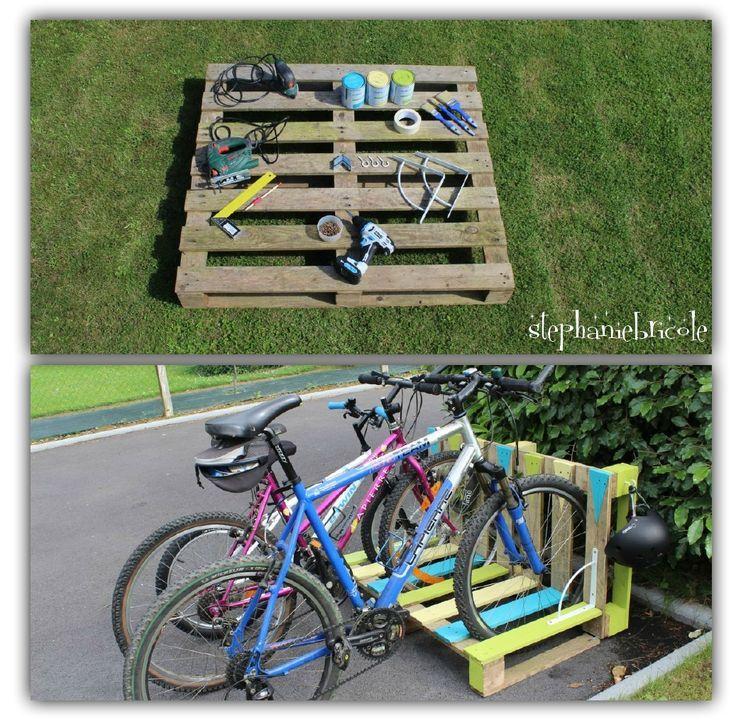 Ein Fahrradträger in einer Palette zurückgefordert #einer #fahrradtrager #palette #zuruckgefordert #palettengarten