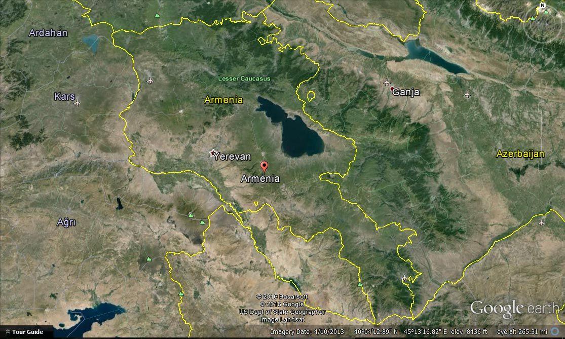 Armenia Satellite Map Armenia Satellite Map