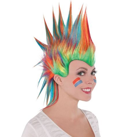 Rainbow Mohawk Wig Party City Rainbow Wig Wig Party Halloween Wigs