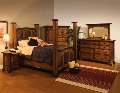 Love this rustic bedroom set! Amish furniture Amish Pinterest