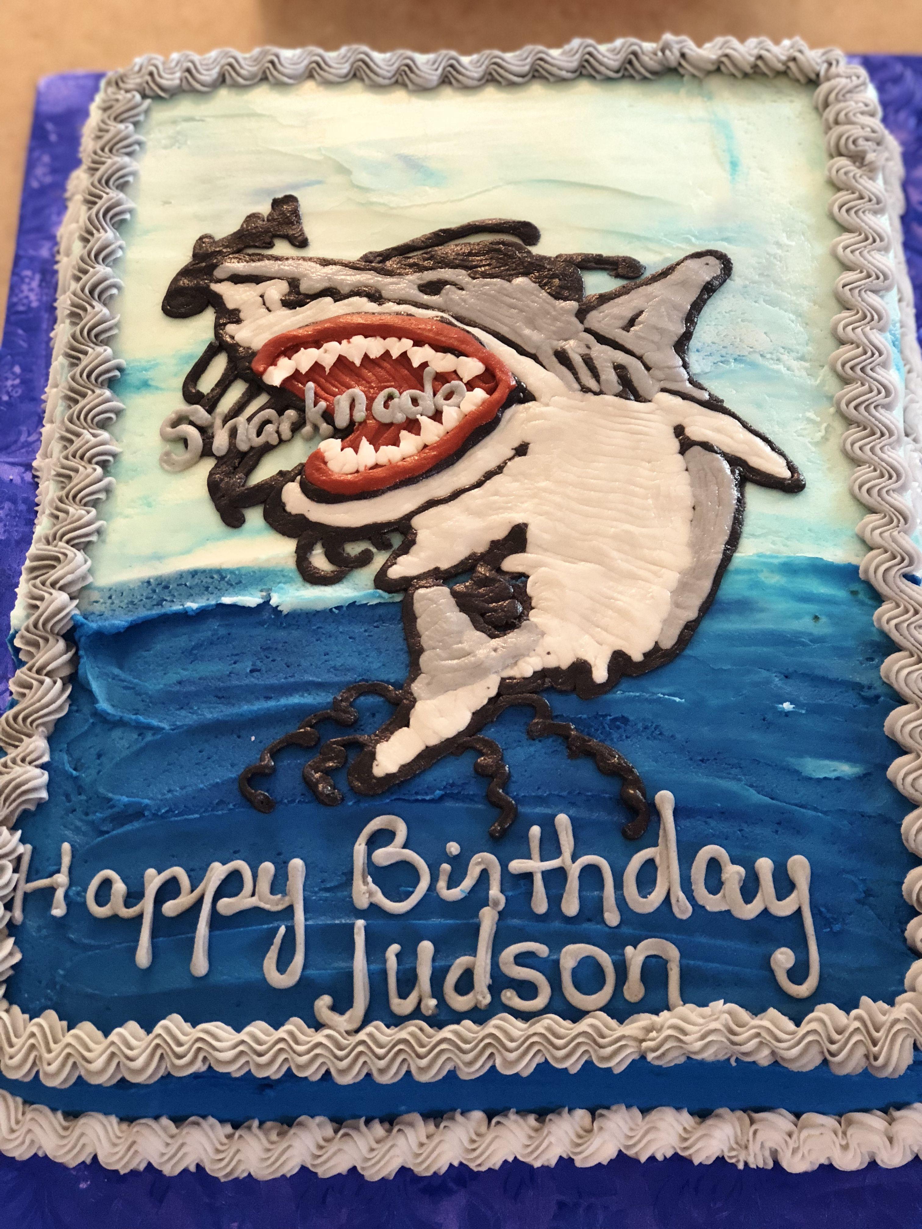 Sharknado Cake Sharknado Cake Happy