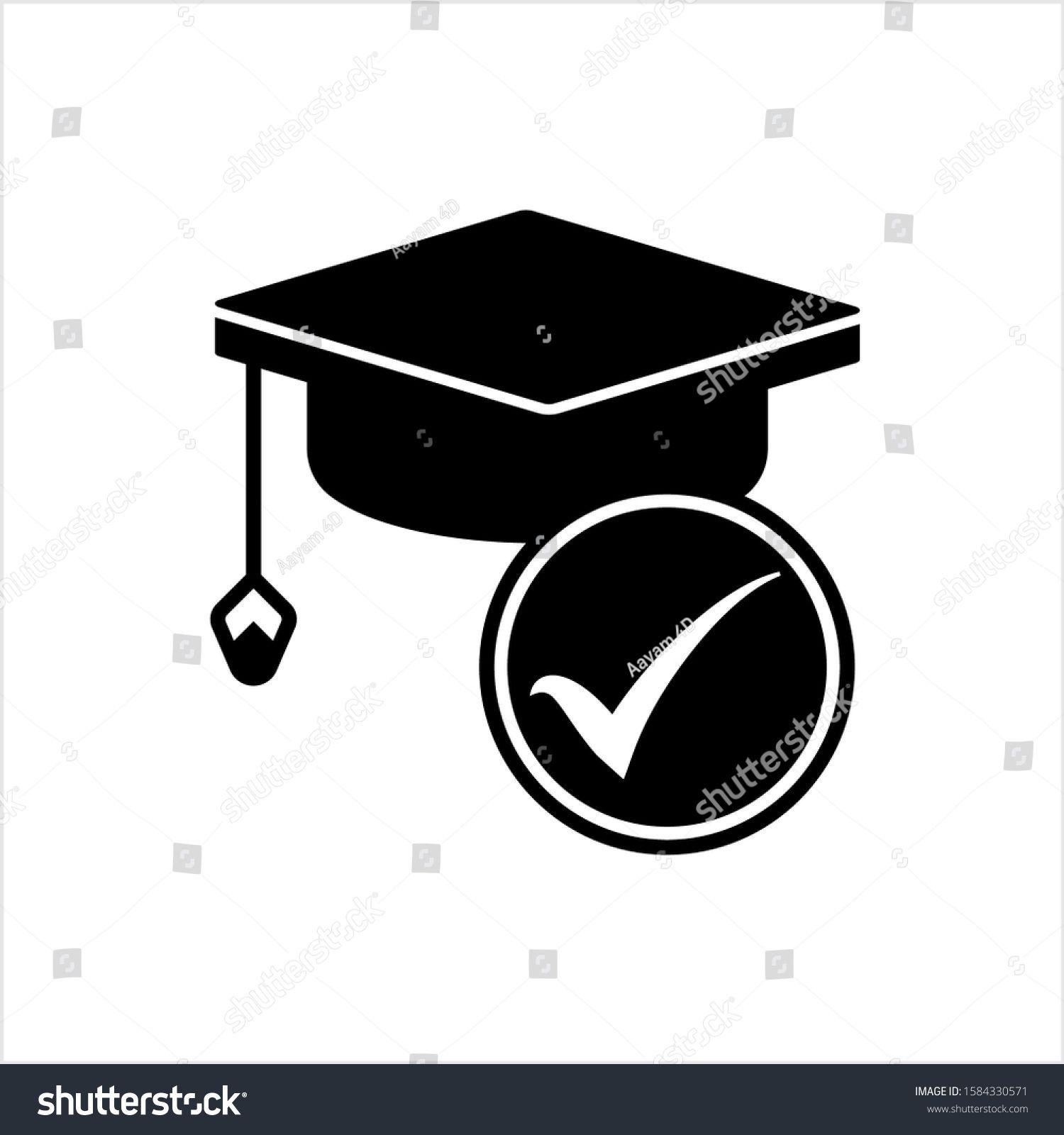 Education Loan Approved Icon Graduation Cap Icon Bachelor Cap Icon Vector Art Illustration Ad Ad Icon G In 2020 Vector Art Illustration Art Logo Graduation Cap