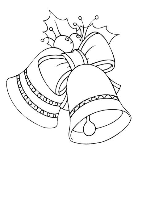 christmas bell small large banded coloring pages
