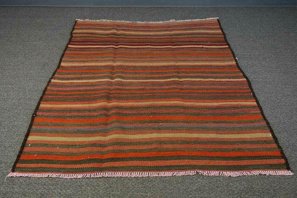 5x6 Vintage Traditional Oriental Flat Weave Handmade Wool Kilim Area Rug Hesamcrafts Kilim In 2020 Kilim Area Rug Wool Area Rugs Rugs On Carpet