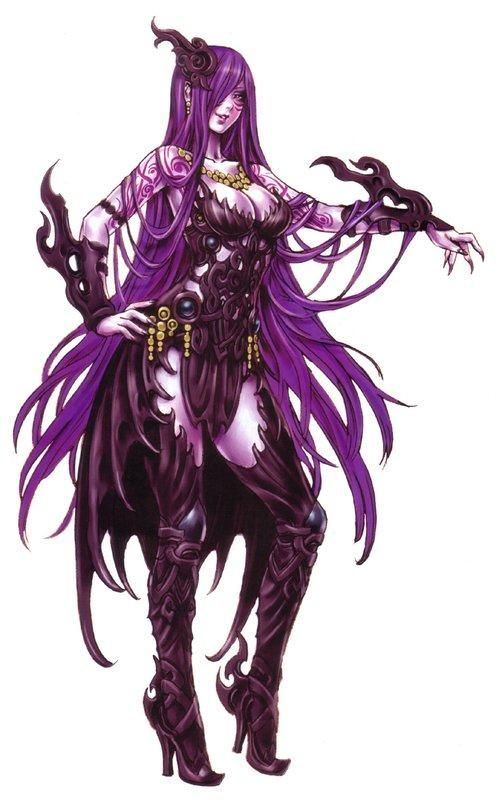 Anime Demoness With Purple Hair In Anime Demonic Type Girls By
