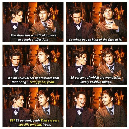 Matt Smith and David Tennant together...