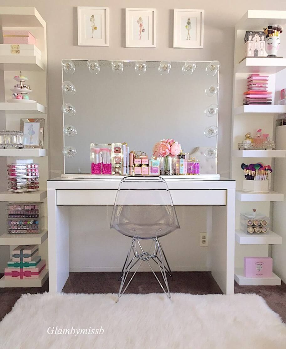 21+ Creative Makeup Room Ideas to Help You Get Prepared for the Day –   – #creat…