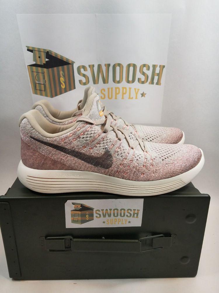 Nike W Lunarepic Low Flyknit 2 Pale Grey Silver 863780 005 New Womens 10 Nike Ruuningshoes Nike Women Womens Sneakers Nike