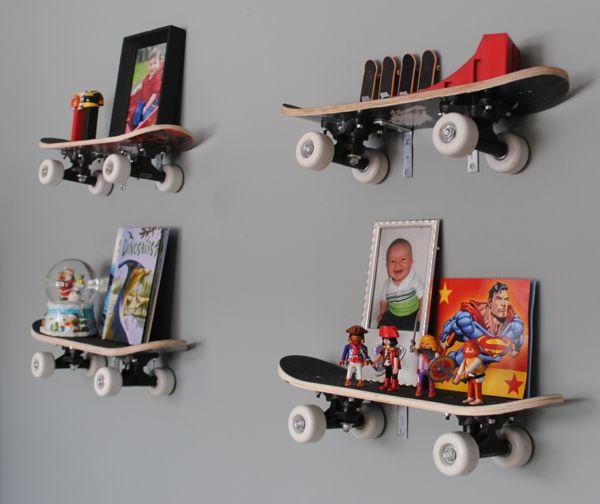 AuBergewohnlich Skateboards Als Wandregale Kinderzimmer Ideen Jungs, Teenager Zimmer Jungs, Regal  Kinderzimmer, Kinderzimmer Einrichten