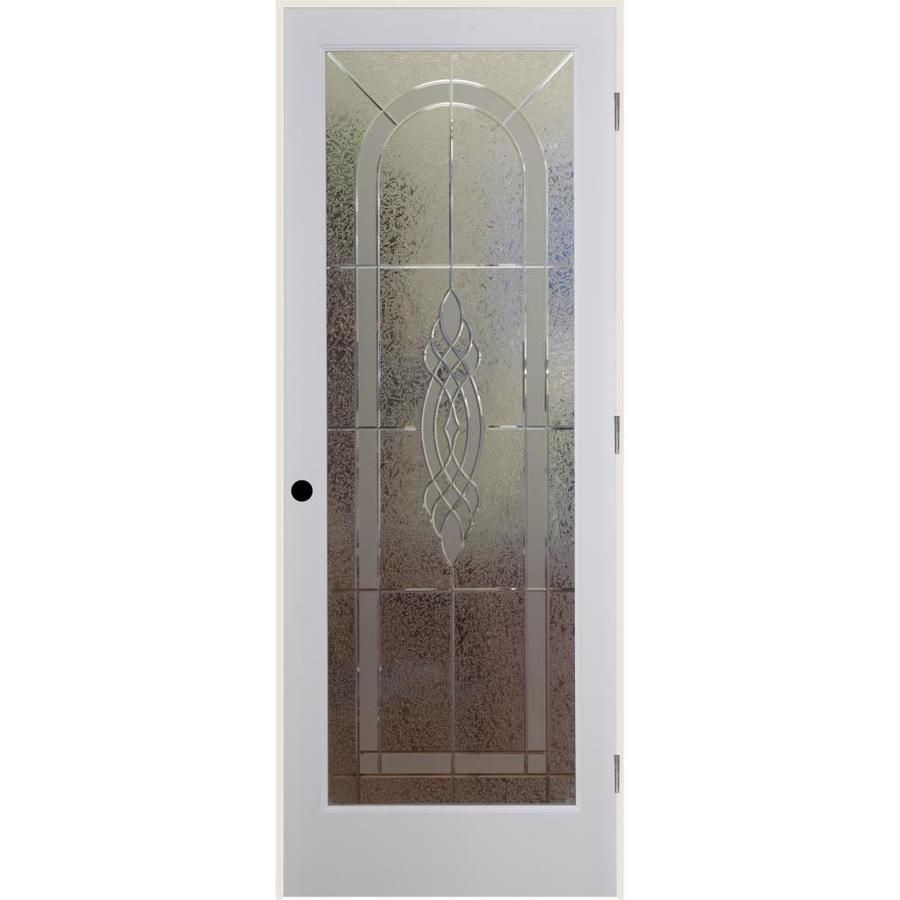 Reliabilt Cameron Solid Core Etched Glass Single Prehung Interior Door Common 30 In X 80 In Actual 31 Reliabilt Prehung Interior Doors Glass Doors Interior