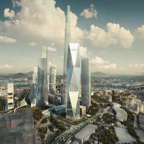 SOM's Diagonal Tower in South Korea