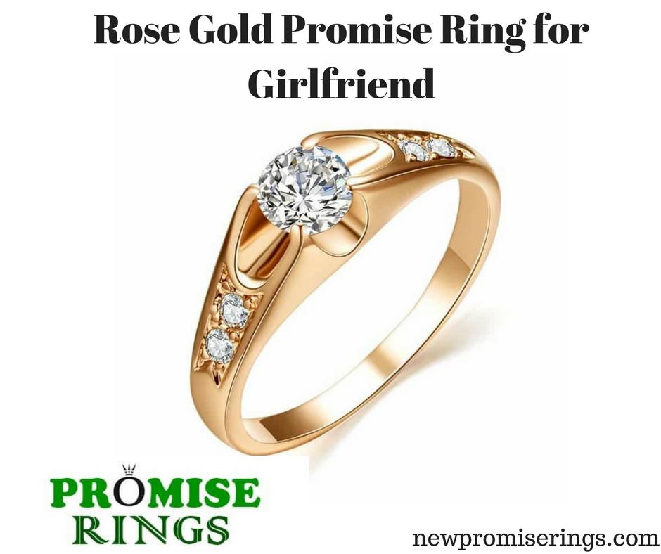 34cde80956 #Rose #Gold #Promise #Ring for #Girlfriend Metal: #Zinc #Alloy  #newpromiserings
