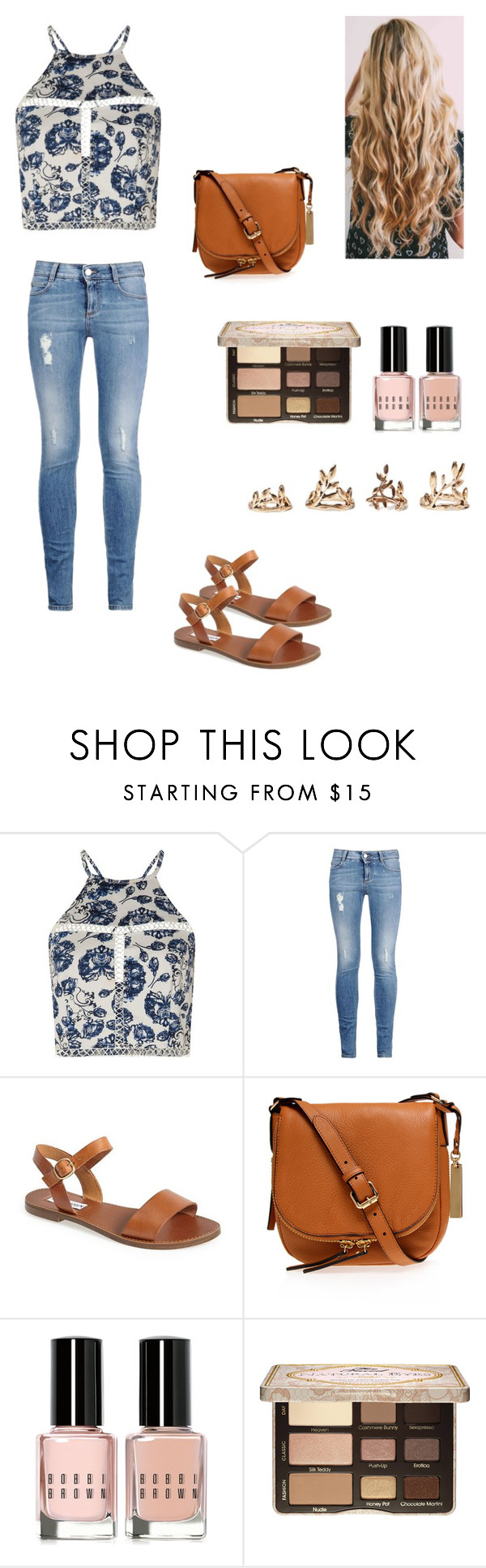 """Untitled #63"" by yabanuelos ❤ liked on Polyvore featuring Missguided, STELLA McCARTNEY, Steve Madden, Vince Camuto, Bobbi Brown Cosmetics, Too Faced Cosmetics and Forever 21"