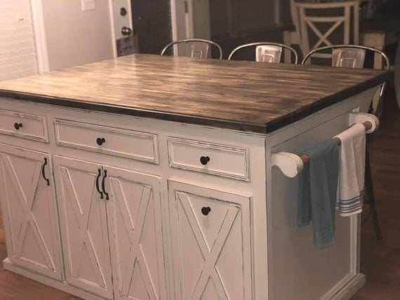 Photo of Custom Kitchen Island / Farmhouse / Island / Kitchen Island / Rustic / Create Your Own / Decor / Country / Modern / Home / Distressed