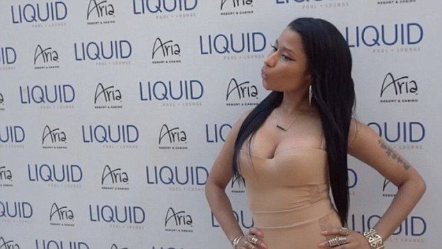 d9979b248e8e3 Nicki Minaj leaves little to the imagination at LIQUID Memorial Day bash in  Vegas