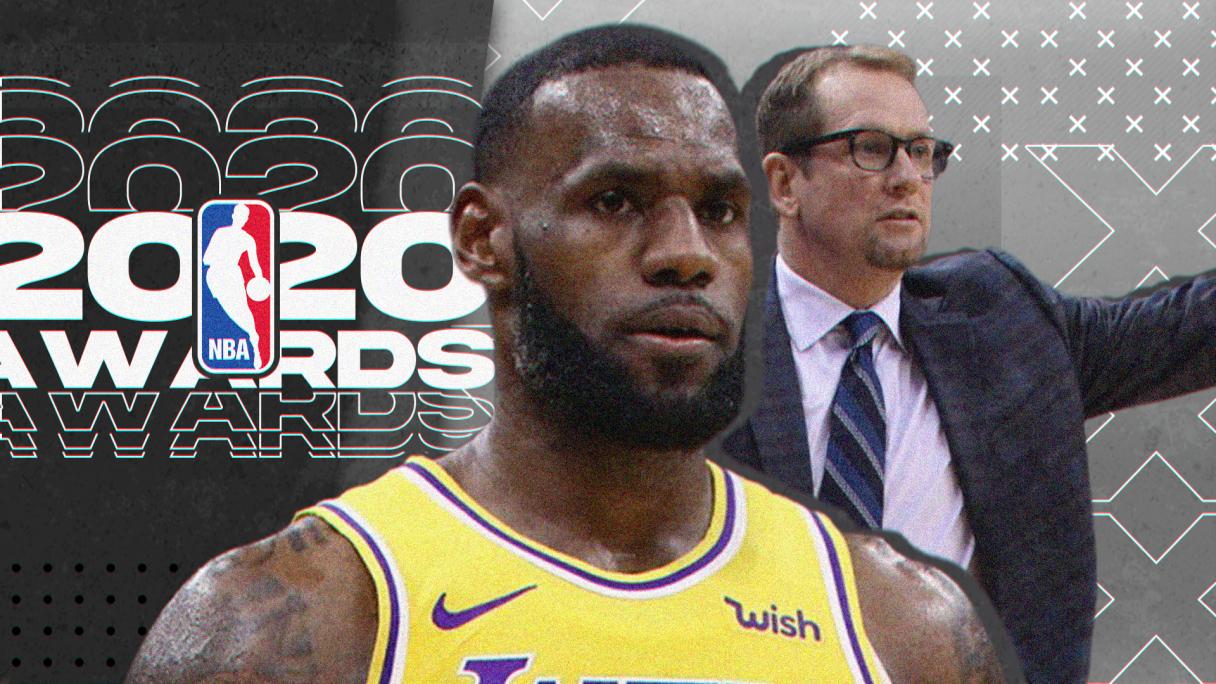 2019 2020 NBA Awards Thumbnail LeBron James Lakers Nick Nurse Toronto  Raptors YouTube Basketball