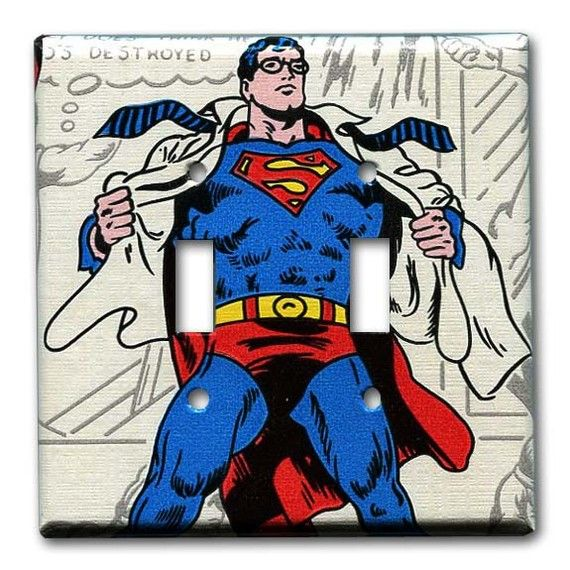 Superman or Clark Kent 1970's Vintage Wallpaper Double by Fondue