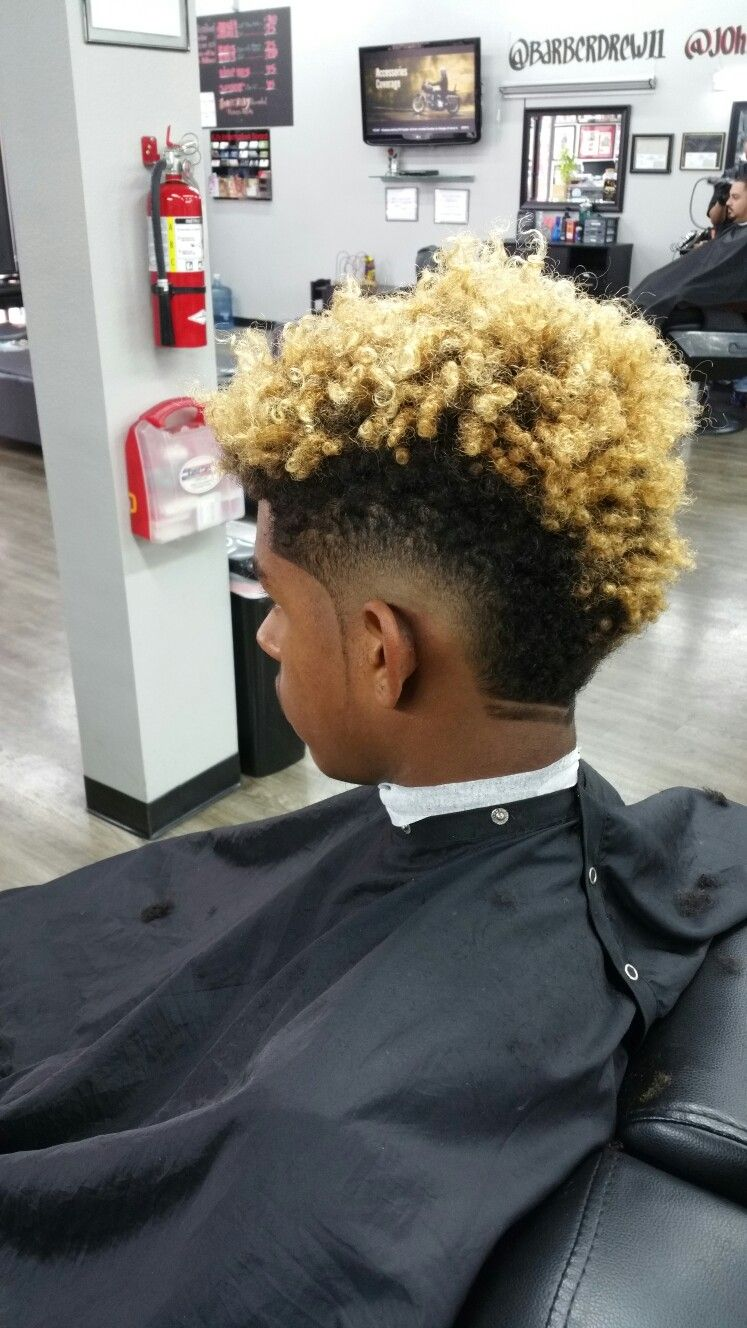 Burst Fade Mohawk Curly Hair Styles Curly Hair Men Haircuts For Men