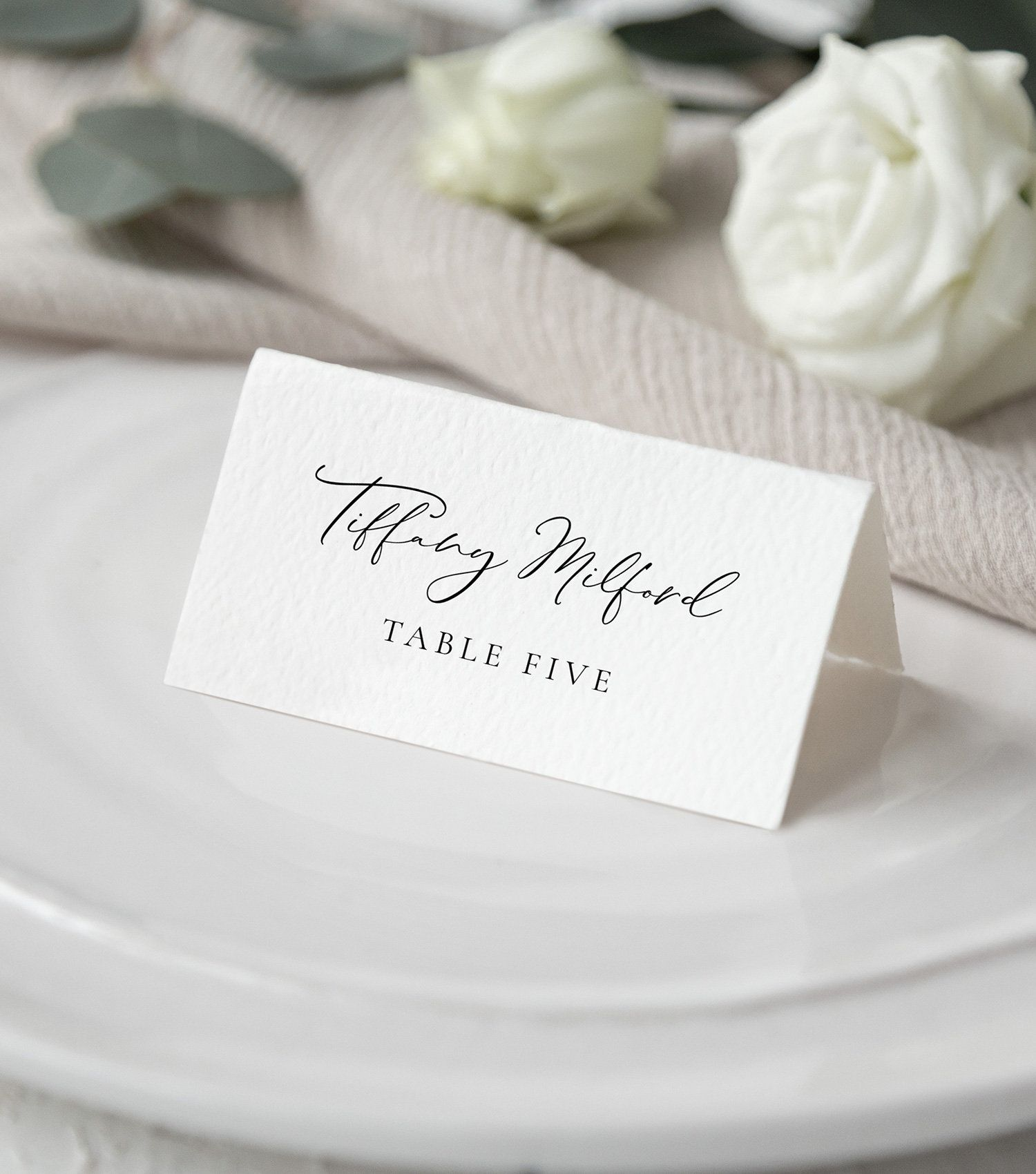 wedding place card template printable tented name card