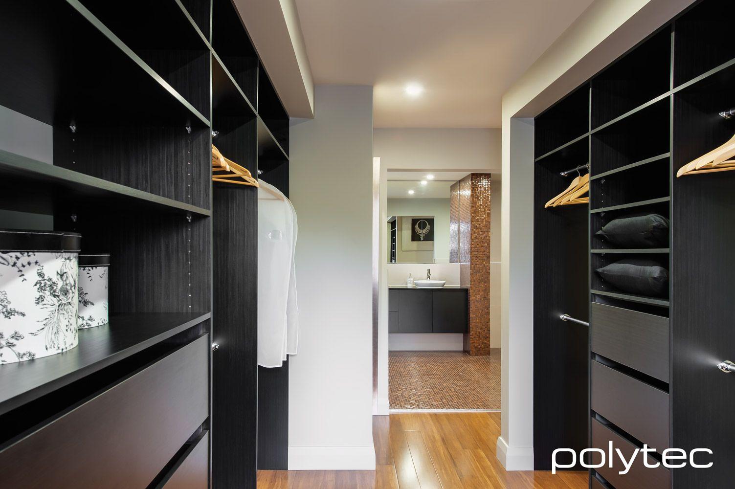 Best Polytec Ravine Black Wenge Walk In Robe 400 x 300