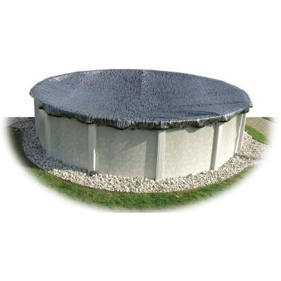 Hinspergers 36 Ft X 36 Ft Round Black Silver Above Ground Enviro