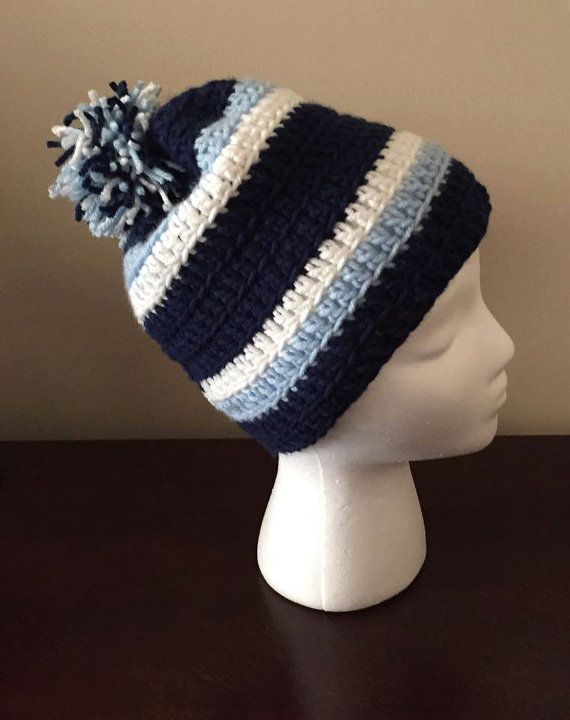 d950607dabf Crocheted TN Titans hat beanie with pom by CrochetedByKristina ...