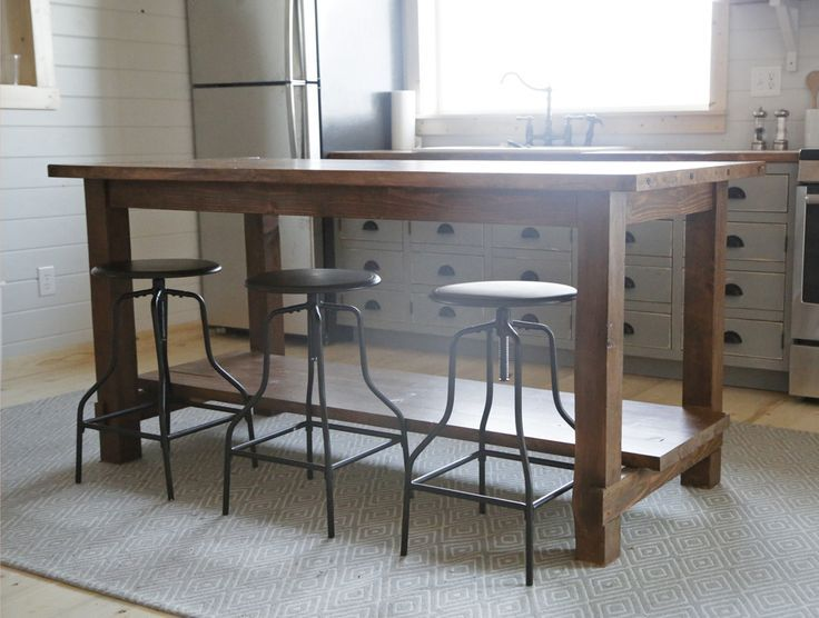 Diy kitchen islands pinterest diy kitchen island on wheels kitchen farmhouse kitchen island yahoo image search results farm tables solutioingenieria Images