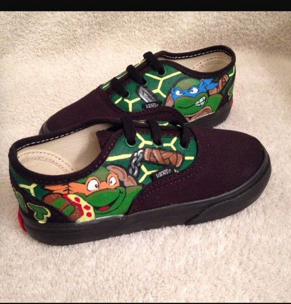 shoes teenage mutant ninja turtle shoes vans