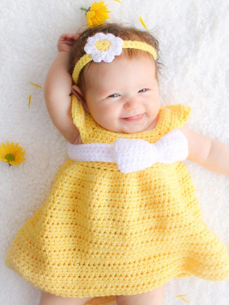 Simply Spring Baby Dress Free Crochet Pattern | Baby Crochet